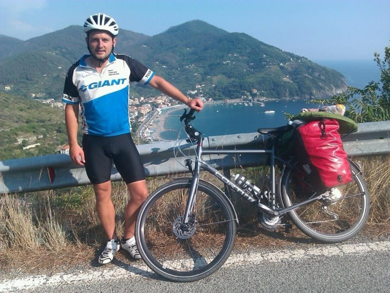 Cycling Italian coast