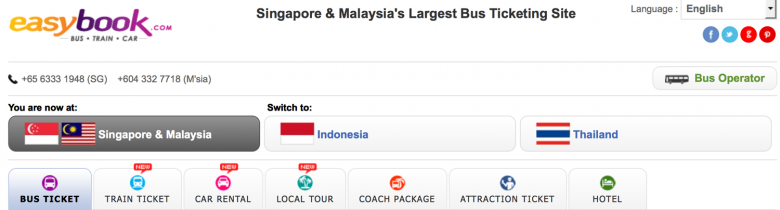 How to book bustickets in Malaysia