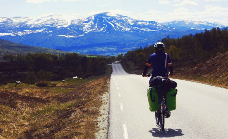 Cycling Oslo Trondheim Norway