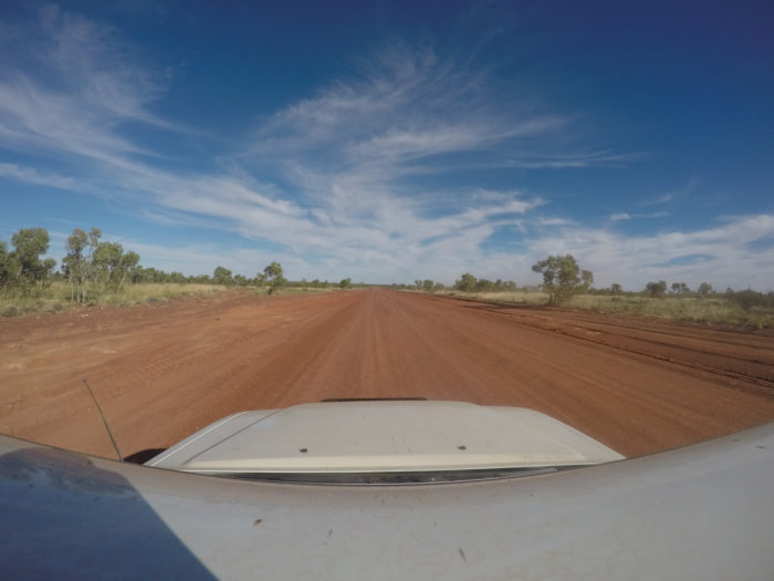 Driving the Tanami road