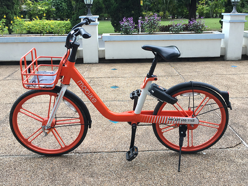 How to use the orange mobike Chiang Mai